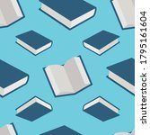 books open and closed seamlees... | Shutterstock .eps vector #1795161604