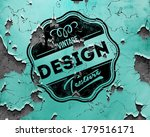 vector vintage label on cracked ... | Shutterstock .eps vector #179516171