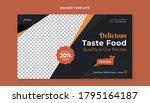 food banner template for... | Shutterstock .eps vector #1795164187