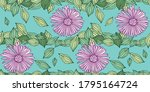 flowers and leaves s vector... | Shutterstock .eps vector #1795164724