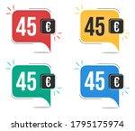 45 euro price. yellow  red ... | Shutterstock .eps vector #1795175974