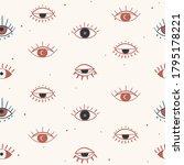 evil eye hand drawn...   Shutterstock .eps vector #1795178221