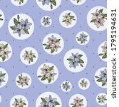 lily  lilies seamless pattern... | Shutterstock .eps vector #1795194631