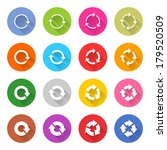 16 arrow icon set 04  white... | Shutterstock .eps vector #179520509