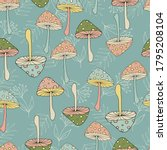 seamless pattern with colorful... | Shutterstock .eps vector #1795208104