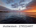 Baltic Sea At Sunset. Dramatic...