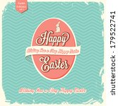 happy easter greeting card  | Shutterstock .eps vector #179522741