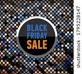 black friday sale banner on... | Shutterstock . vector #1795228147