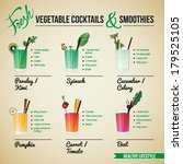 fresh vegetable cocktails  ... | Shutterstock .eps vector #179525105