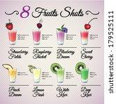 fresh fruit shots set with...   Shutterstock .eps vector #179525111