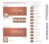 social media funpage elements... | Shutterstock .eps vector #179525165