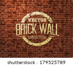 Brick wall seamless vector pattern - stock vector