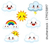 collection of cute cartoon... | Shutterstock . vector #179525897