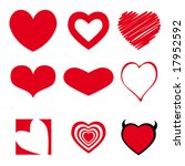 heart collection | Shutterstock .eps vector #17952592