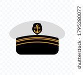 captain hat icon. marine hat... | Shutterstock .eps vector #1795280077