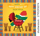happy heritage day south africa ... | Shutterstock .eps vector #1795295074