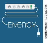 electricity plug in enery... | Shutterstock .eps vector #179532245