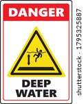 danger deep water sign caution... | Shutterstock .eps vector #1795325887