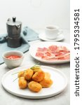tapas croquettes  traditional...   Shutterstock . vector #1795334581