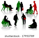 silhouette of old people and... | Shutterstock .eps vector #17953789