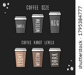 poster coffee cup size and... | Shutterstock .eps vector #1795384777
