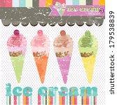ice cream shop vintage design | Shutterstock .eps vector #179538839