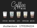 a coffee menu layout. coffee of ...