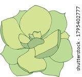 Vector Illustration Of A Green...