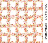 seamless pattern with flowers ... | Shutterstock .eps vector #1795417927