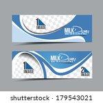 milk dairy header   banner... | Shutterstock .eps vector #179543021