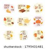 Cartoon Autumn Sale Labels....