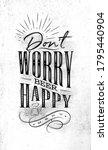 poster lettering dont worry...   Shutterstock .eps vector #1795440904