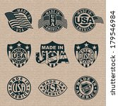 made in america  usa    set of... | Shutterstock .eps vector #179546984