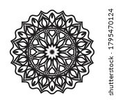 mandalas with black and white... | Shutterstock .eps vector #1795470124
