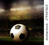 ball on a football field.   Shutterstock . vector #179547815