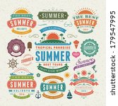 summer design elements and... | Shutterstock .eps vector #179547995