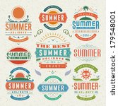 summer design elements and... | Shutterstock .eps vector #179548001