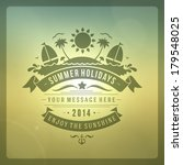 summer vector typography.... | Shutterstock .eps vector #179548025