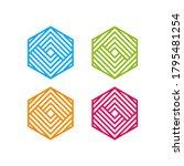 tech cube logo design template. ...   Shutterstock .eps vector #1795481254