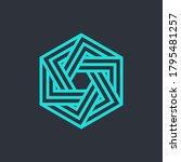 tech cube logo design template. ...   Shutterstock .eps vector #1795481257
