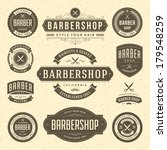 barber shop vintage retro...   Shutterstock .eps vector #179548259