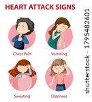 heart attack symptoms or...   Shutterstock .eps vector #1795482601