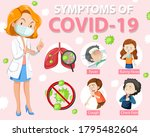 symptoms of covid 19 or...   Shutterstock .eps vector #1795482604