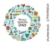 world health day. concept art...   Shutterstock .eps vector #1795490014