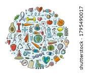 world health day. concept art...   Shutterstock .eps vector #1795490017