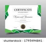 certificate layout design...   Shutterstock .eps vector #1795494841