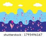 flower composition design ...   Shutterstock .eps vector #1795496167