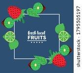 fresh local fruits with lemons...   Shutterstock .eps vector #1795505197