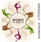 sports time poster with...   Shutterstock .eps vector #1795505404