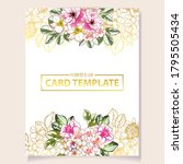 vintage delicate greeting...   Shutterstock .eps vector #1795505434